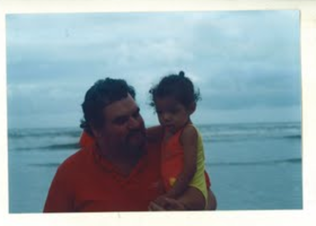 Raquel na praia
