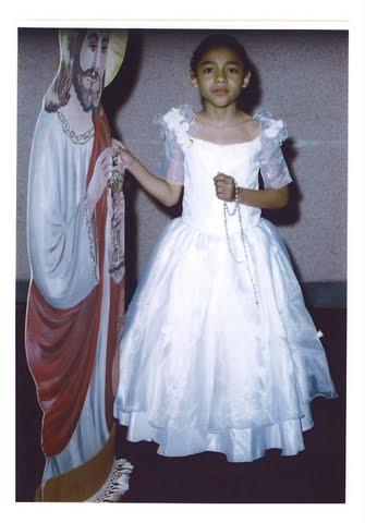 Raquel na primeira comunhão