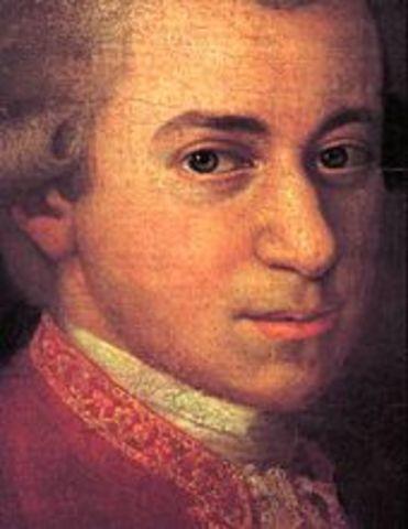 Wolfgang Amadeus Mozart Born