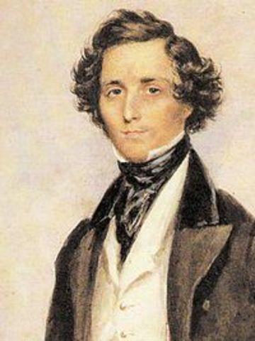 Jakob Ludwig Felix Mendelssohn Bartholdy born