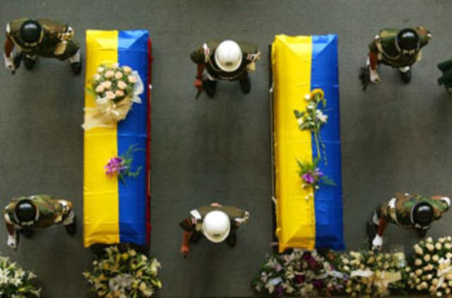 Asesinato de Guillermo Gaviria, Gilberto Echeverri, entre otros.