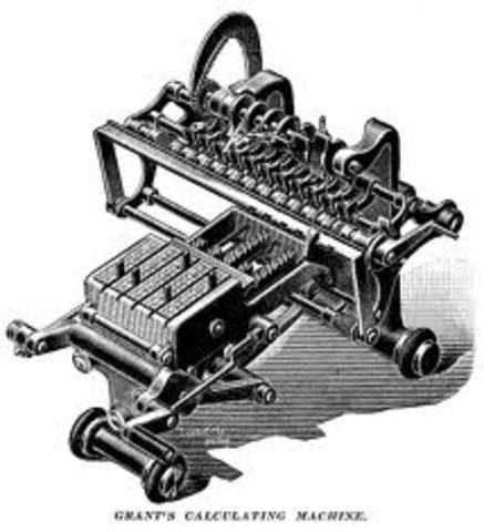 Invención de la calculadora con una tabla interna de multiplicación