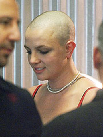 Britney's shaved head