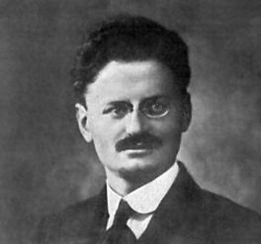 Lev (Leiba) Davidovitsj Bronstein (Trotski) geboren