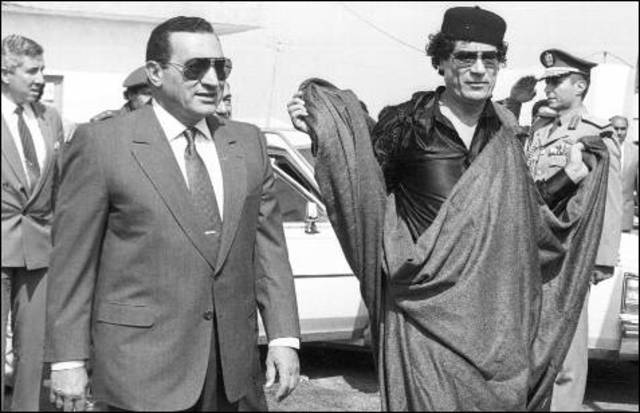 Reunión de Gaddafi con Hossni Mubarak