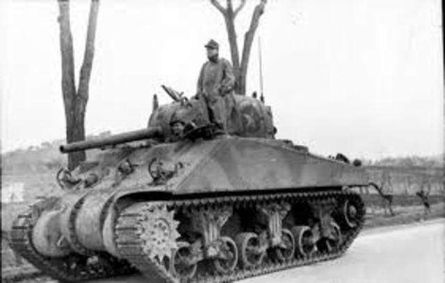 U.S Shermen tank design made