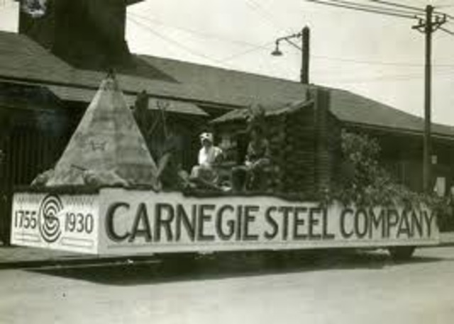 Carnegie forms his steel company