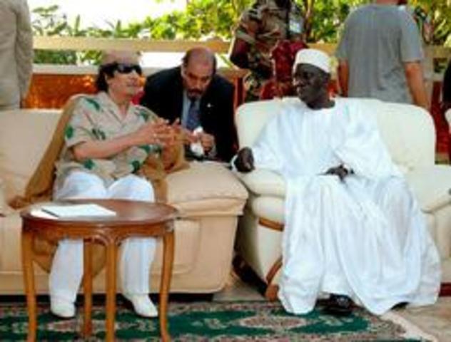 Visita de Gaddafi a Conakry