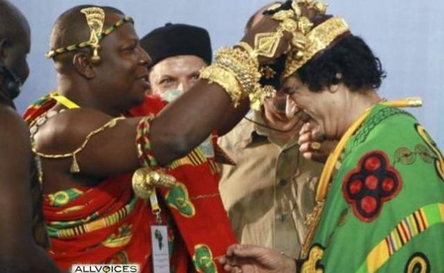 "Gaddafi ""Rey de Reyes de África"""