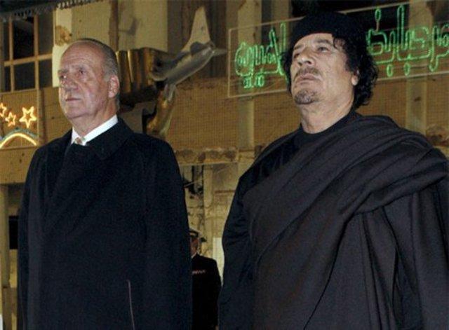 Gaddafi visita España