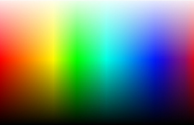 White light is composed up of a spectrum of different colors.