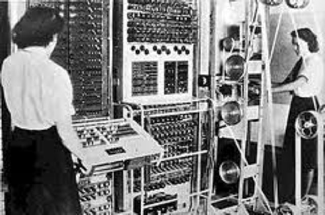 The Colossus computer is completed and set to work