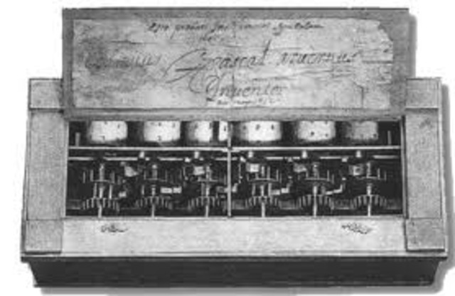 Blaise Pascal invents a mechanical calculator