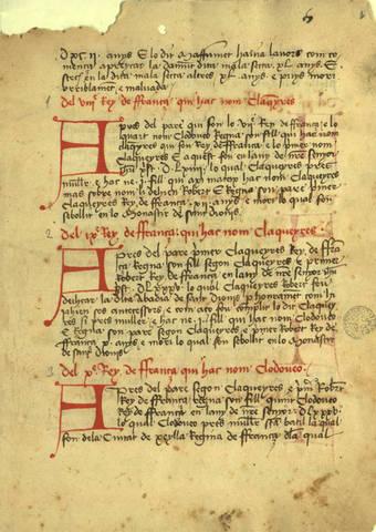 Crònica de Bernat Desclot (1283-1288)