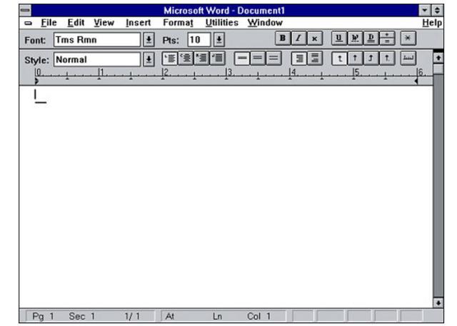 El procesador de textos Word