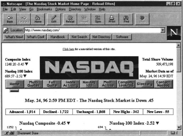 El navegador web Netscape Navigator