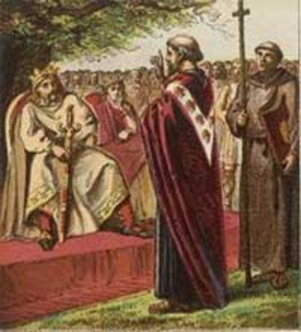 St. Augustine travels to England