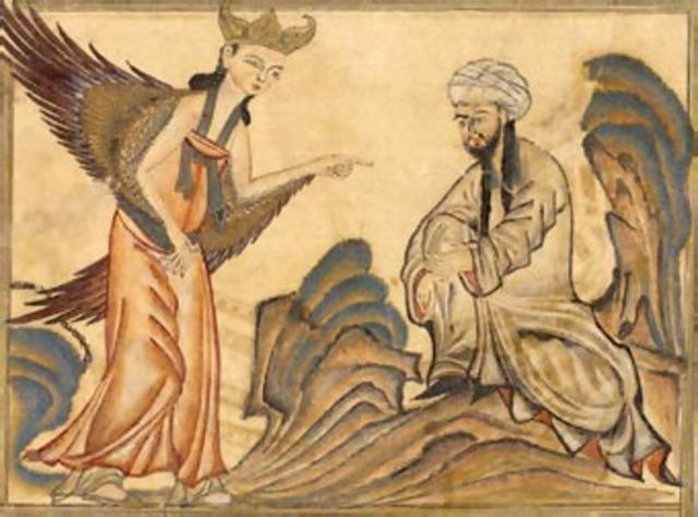 Muhammad sees the Angel Gabriel