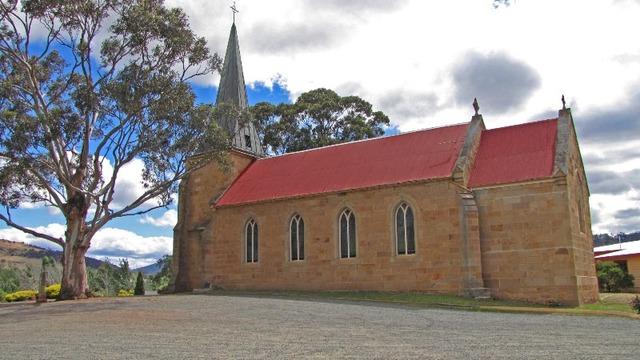 Construction of first Catholic church at Richmond, Tasmania