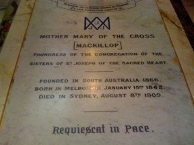 Death of Mary McKillop.