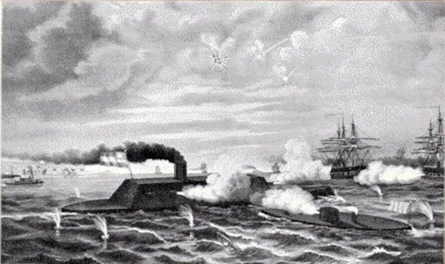 Monitor and Merrimack Battle