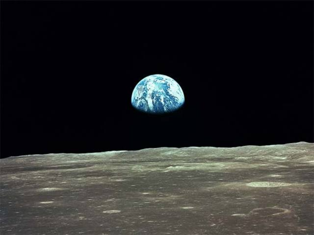 Photograph of Earth from the moon