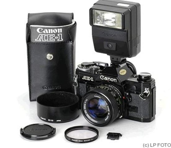 Canon demonstrated first digital electronic still camera