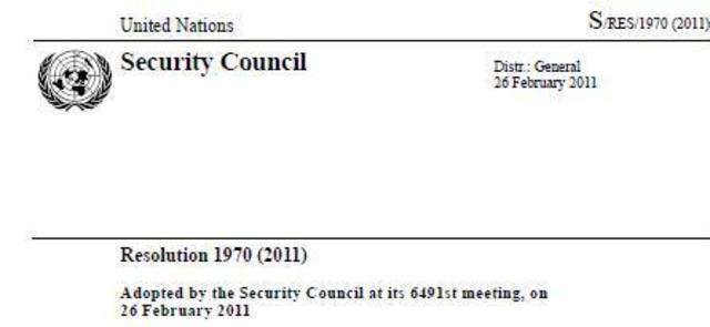 Resolución 1970 del Consejo de Seguridad de la ONU