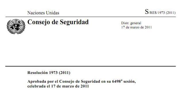 Resolución 1973 del Consejo de Seguridad de la ONU