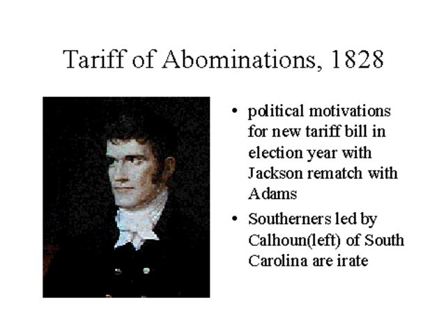 Tariff of Abominations passed
