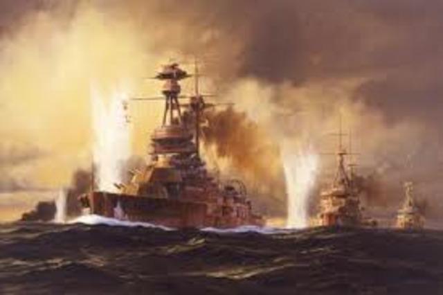 Battle of Jutland starts