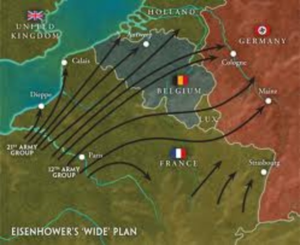Allies recover France and Belgian