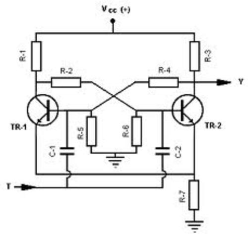 circuito multivibrador o biestable
