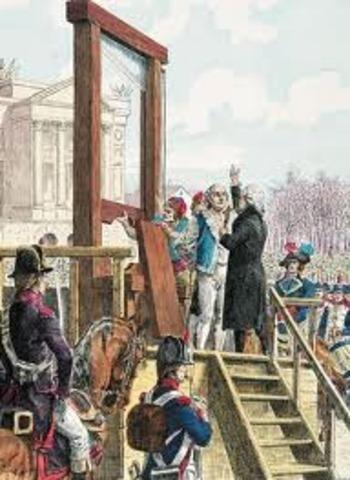 King Louis XVI beheaded