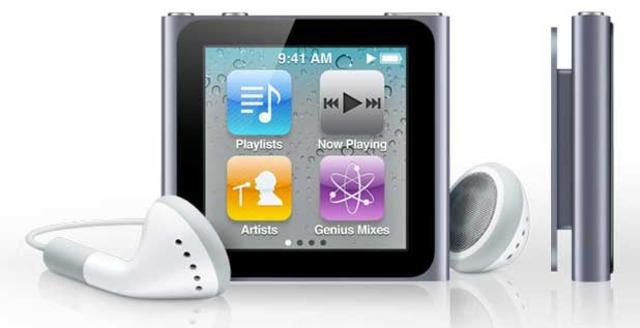 New iPod Nano has a touchscreen