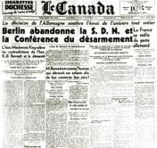 The withdraw of Germany from the League of Nations