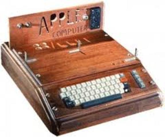Steve Jobs and Steve Wozniac introduce Apple