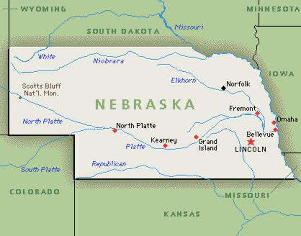 Nebraska became a state