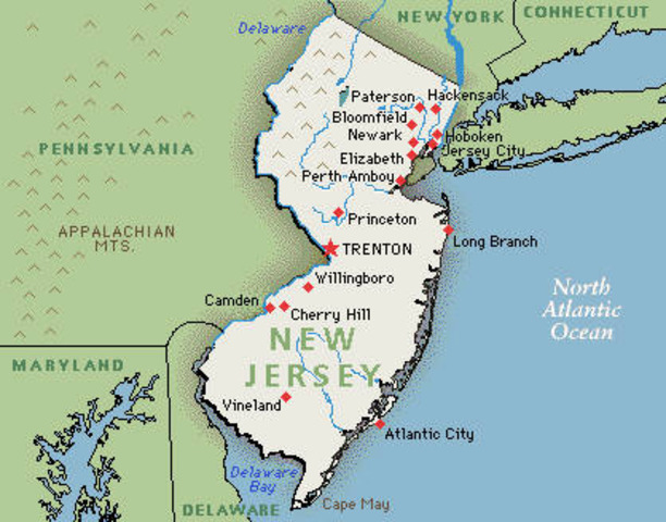 New Jersey's Establishment and Changes