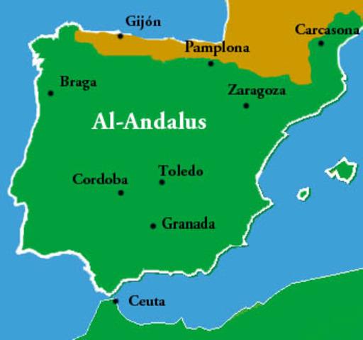 Entrada dels musulmans a la Península Ibèrica