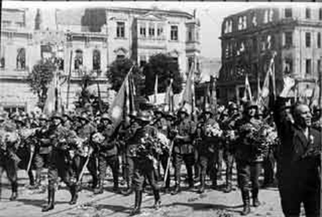 The german army invaded Austria