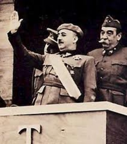 Franco declred head of the Spanish state