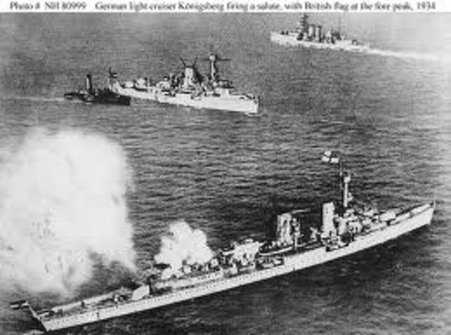 British Royal Air Force attacks the German Navy.