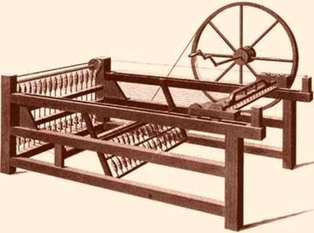 Spinning Jenny invented by James Hargreaves