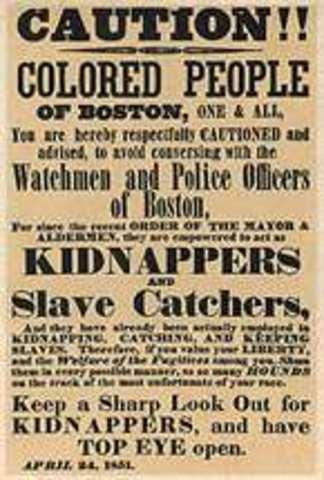 Fugitve Slaw Law enacted