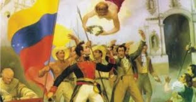 Simon Bolivar se apodera de Tunja