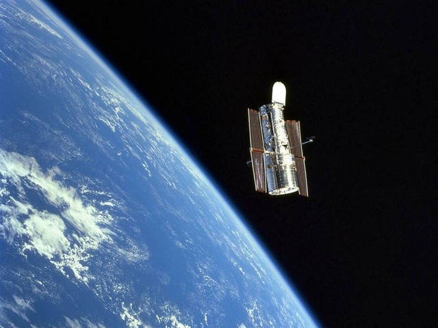 Launching of the Hubble Space Telescope
