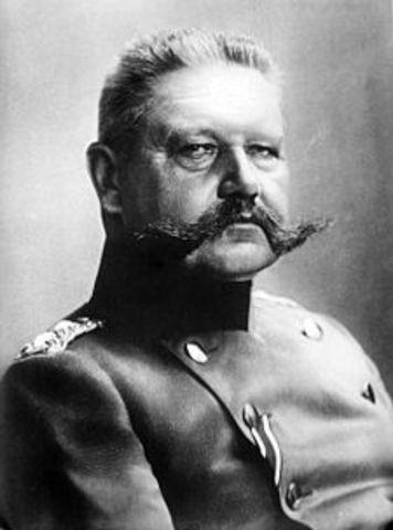 the death of Hindenburg