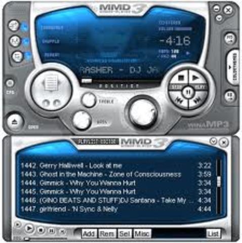 Reproductor multimedia Winamp