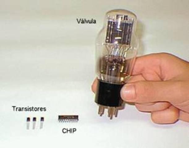 A válvula é substituída pelo Transistor, a revolução da eletrônica